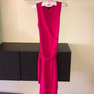 pink banana republic midi dress